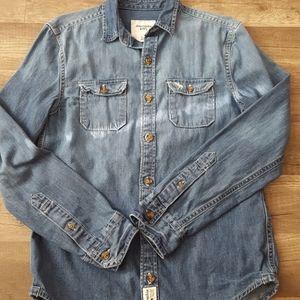 Abercrombie Jean Button Down Kids Shirt
